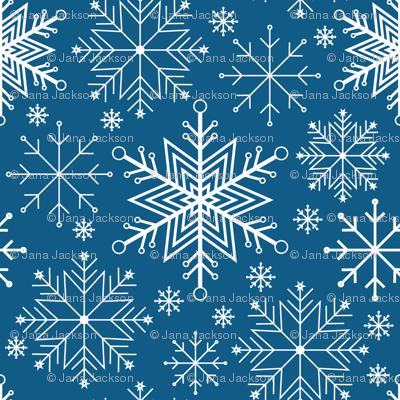 Let it Snow-dark blue