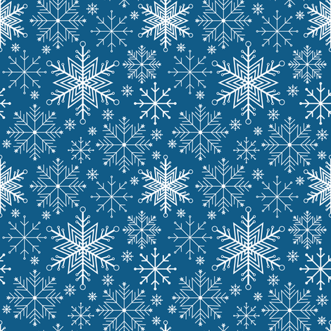 Let it Snow-dark blue fabric by jjtrends on Spoonflower - custom fabric