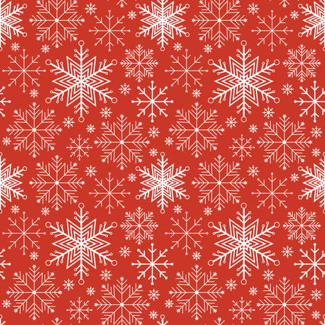 Let it Snow-red fabric by jjtrends on Spoonflower - custom fabric