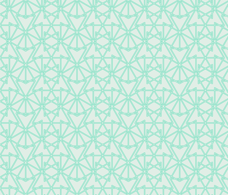 Jewels In Aqua fabric by claudiaowen on Spoonflower - custom fabric