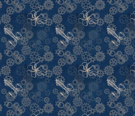 Octopus Gears fabric by trollop on Spoonflower - custom fabric