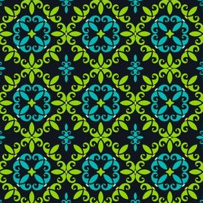 Little Details in Black Green and Blue
