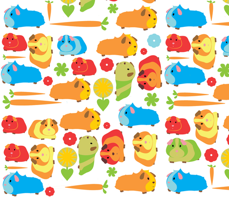 Guinea Pig Patch sized for Decals  fabric by upcyclepatch on Spoonflower - custom fabric