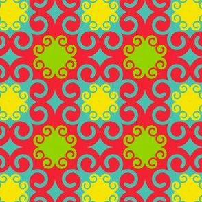Modern Swirls Multicolor