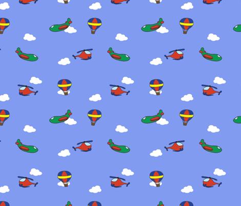 Flying Machines fabric by bumblebeedc on Spoonflower - custom fabric