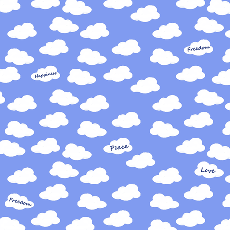 Text Clouds fabric by bumblebeedc on Spoonflower - custom fabric