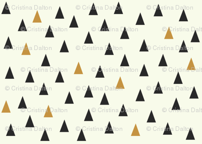 Triangles Black and Gold