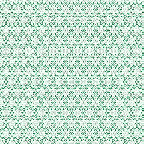 Snowflake_Lace_-Green fabric by fireflower on Spoonflower - custom fabric