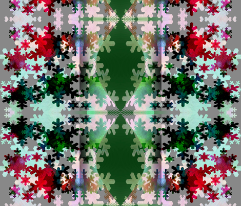 Draw back the curtains . . . it's snowing! fabric by anniedeb on Spoonflower - custom fabric