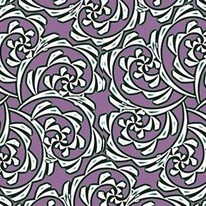 Fiddlehead Swirl  -mauve