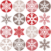 Snowflakes - candy cane colours