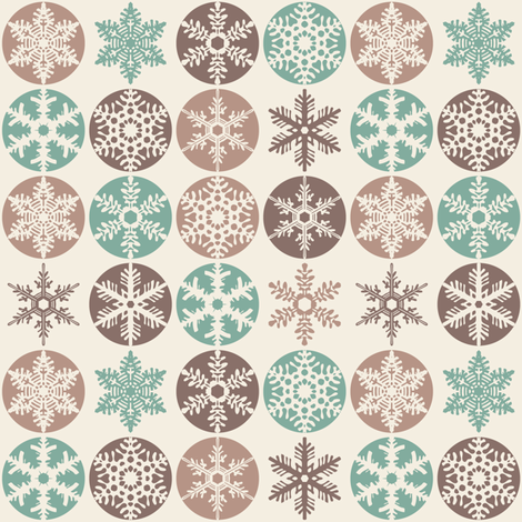 Snowflakes - Christmas Cookie Colours fabric by ebygomm on Spoonflower - custom fabric