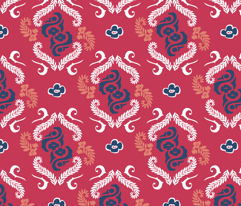 red_back_pattern_square fabric by roxi-t on Spoonflower - custom fabric