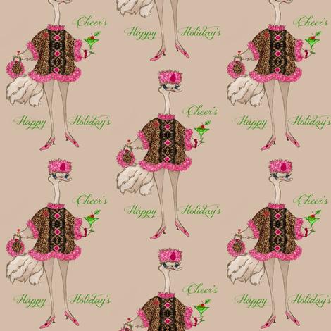 Olivia Happy Holidays fabric by paragonstudios on Spoonflower - custom fabric
