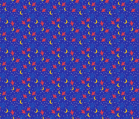 Cartoon Rocket Ships fabric by diane555 on Spoonflower - custom fabric