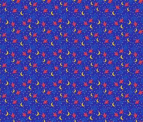 Cartoon Rocket Ships fabric by diane555 on Spoonflower - custom fabric