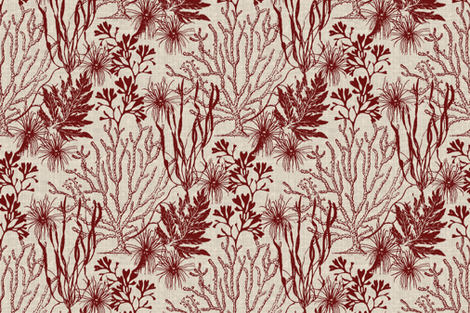Poseidon Claret fabric by littlerhodydesign on Spoonflower - custom fabric