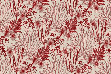 Poseidon Cherry fabric by littlerhodydesign on Spoonflower - custom fabric