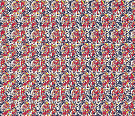 Flowers and Hearts Fabric fabric by dk_designs on Spoonflower - custom fabric