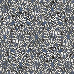 Fiddlehead Swirl  -slate blue