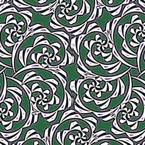 Fiddlehead Swirl  -pine green