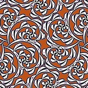 Fiddlehead Swirl  -rust
