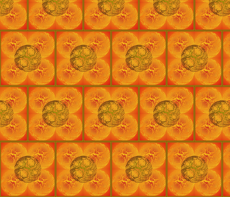 orange sun fabric by y-knot_designs on Spoonflower - custom fabric