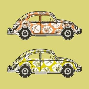 Folkeli Beetle yellow and orange