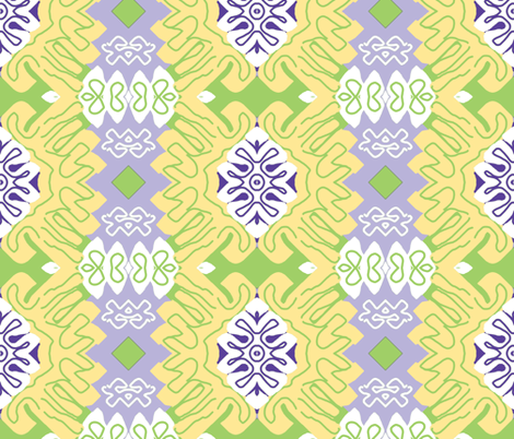Menton in Spring - Matisse-like Medallions fabric by susaninparis on Spoonflower - custom fabric