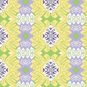 Menton in Spring - Matisse-like Medallions