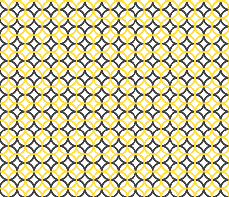 gray and yellow overlapping circles fabric by blissdesignstudio on Spoonflower - custom fabric
