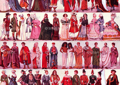 Historic Costume Red
