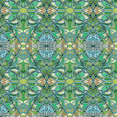 Deco Forest fabric by edsel2084 on Spoonflower - custom fabric
