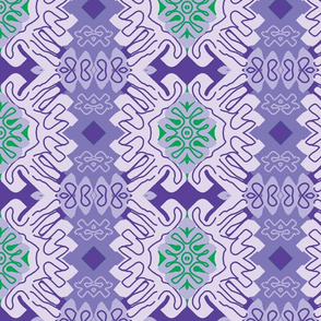 Damask Effect in Lavender - Matisse-like Medallions