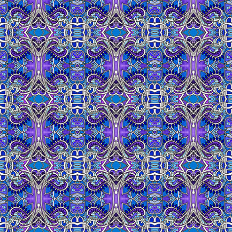 Blue Blooded Romance fabric by edsel2084 on Spoonflower - custom fabric