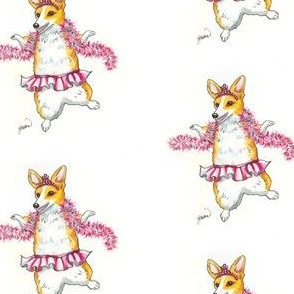 Dancing Corgi in Pink Tutu