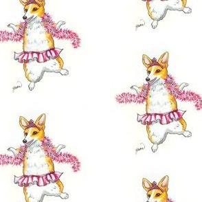 Dancing Corgi in Pink Tutu