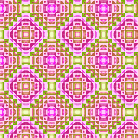 Pattern_Patchwork__-Pink-Green-Purple1 fabric by fireflower on Spoonflower - custom fabric