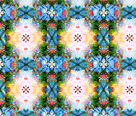 The garden trellis fabric by dana_zurzolo on Spoonflower - custom fabric