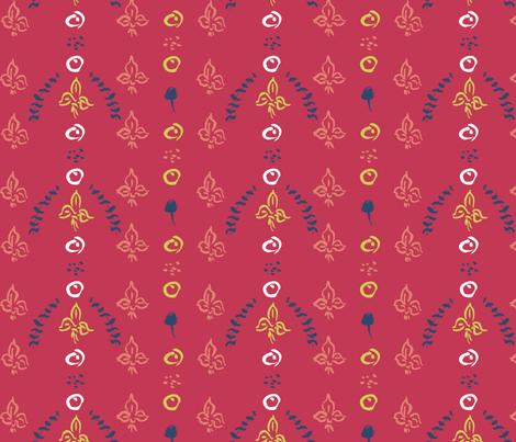 Fleur-de-lis fabric by lauriebaars on Spoonflower - custom fabric