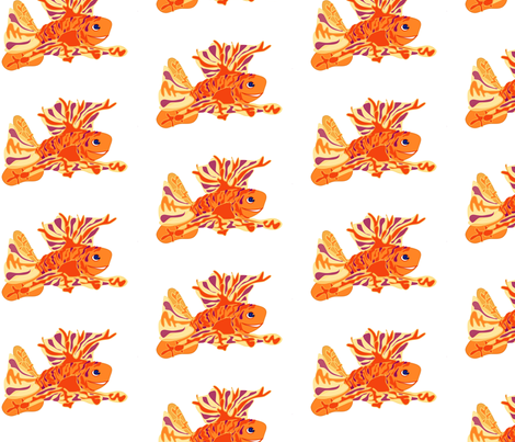 Angel Fish fabric by kcs on Spoonflower - custom fabric