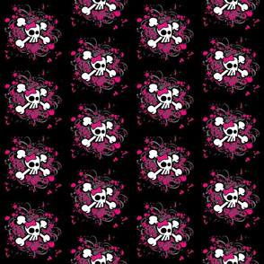 Girly Skull and Crossbones