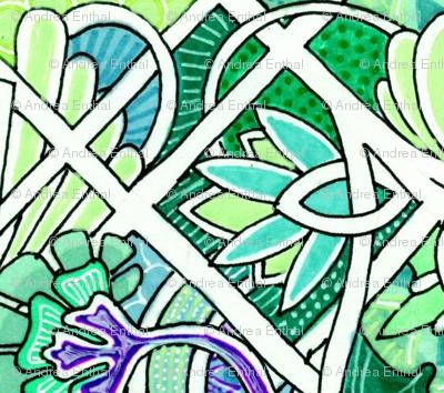 Emerald Deco Patchwork