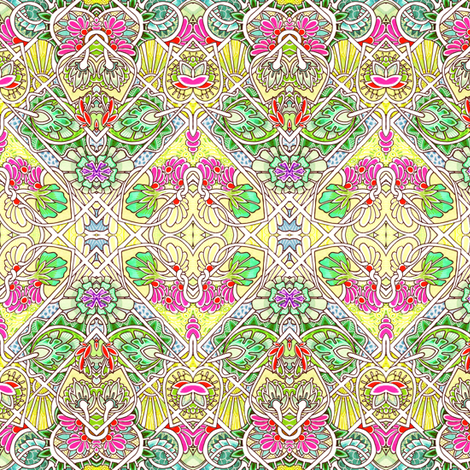 Art Nouveau Spring fabric by edsel2084 on Spoonflower - custom fabric