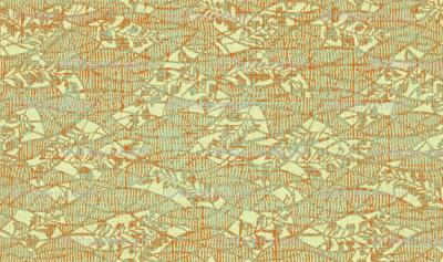 Garden Textures - dusty miller - verdigris and rust