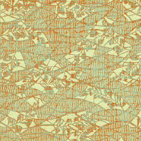 Garden Textures - dusty miller - verdigris and rust fabric by materialsgirl on Spoonflower - custom fabric
