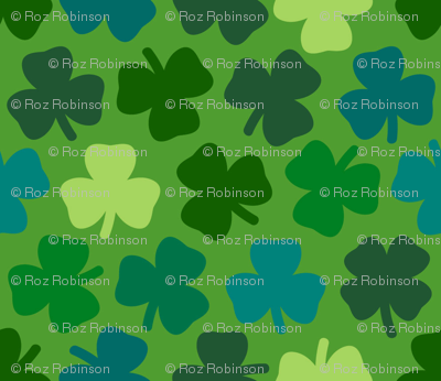 Lucky four leaf clover - leaf green