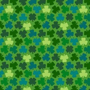 Lucky four leaf clover - leaf green
