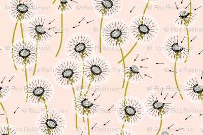 Fanciful flight - make a dandelion wish! - wheat