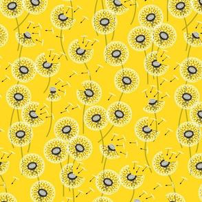 Fanciful flight - make a dandelion wish! - buttercup yellow